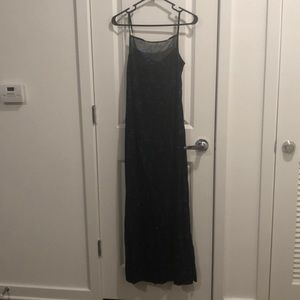 Connected Apparel Blue/Navy/Black Dress Size 8